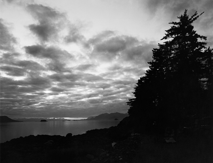 VIew from Harlequin Point looking towards Lynn Canal